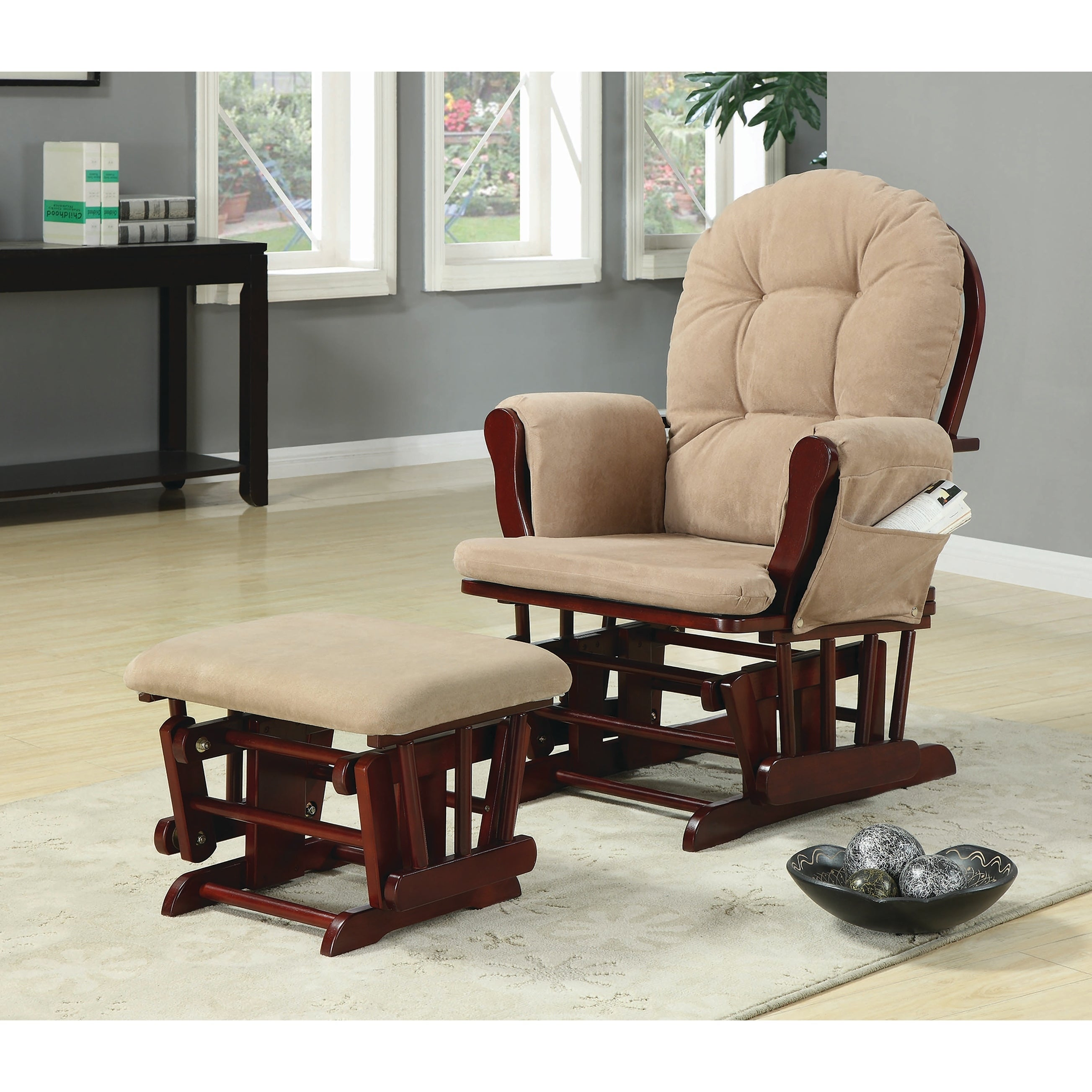Coaster Furniture Brown Microfiber Glider Recliner Chair ...