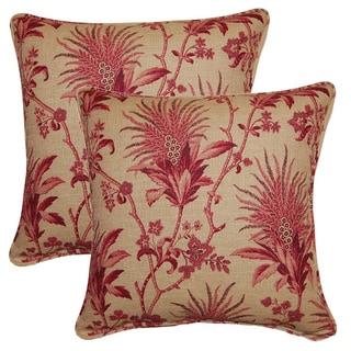 Sarala Raspberry 17-inch Throw Pillows (Set of 2)