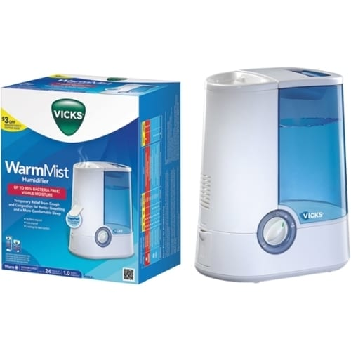 Honeywell Vicks Warm Moisture Humidifier, White (Oils)