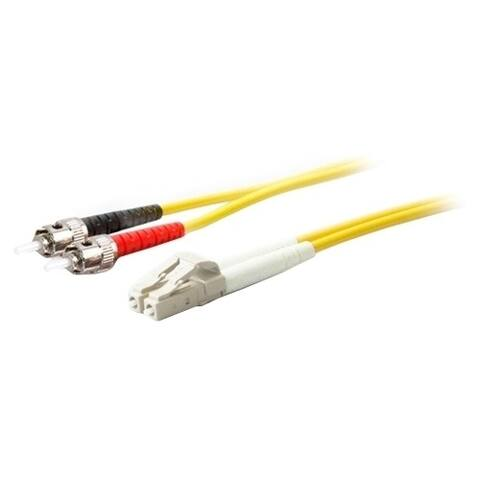 AddOn 1m LC (Male) to ST (Male) Yellow OS1 Duplex Fiber OFNR (Riser-Rated) Patch Cable