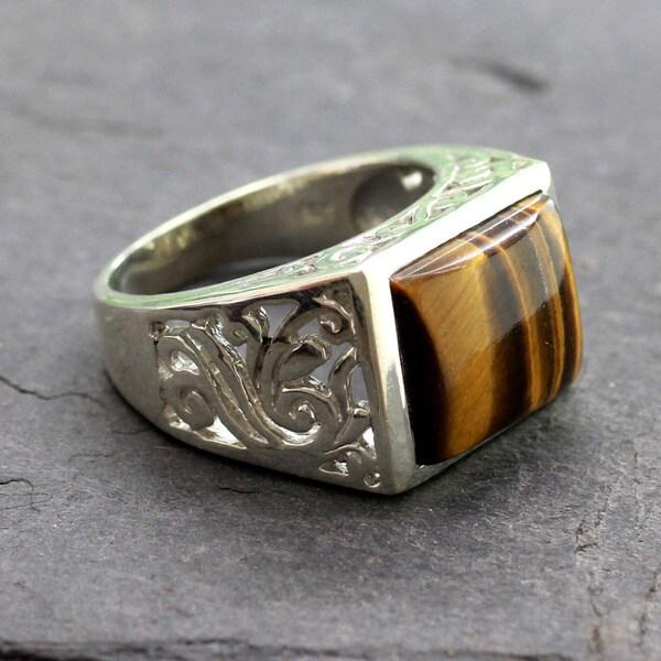 Handmade Large Bold Rectangular Tigers Eye Gemstone Set  : Handcrafted Mens Sterling Silver Warmth Tigers Eye Ring India b8990e33 e8a5 4b18 a48a 0e9dcfc2e6e5600 from www.overstock.com size 600 x 600 jpeg 69kB