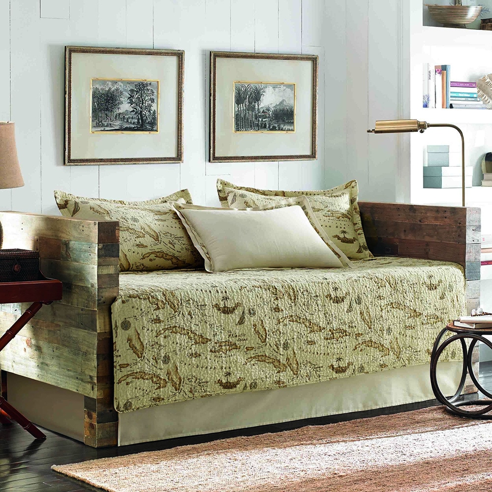 Tommy Bahama Map 5-piece Quilted Daybed Cover Set (Daybed...