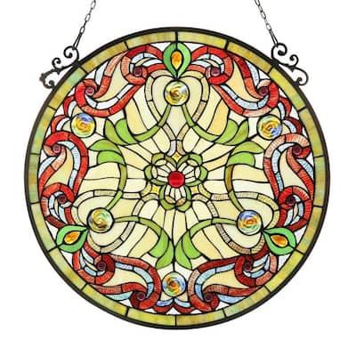 Chloe Tiffany-style Victorian Design Window Panel