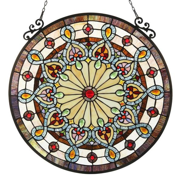 Chloe Tiffany Style Victorian Design Stained Gl Window Panel