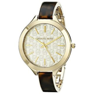 Michael Kors Women's MK4293 Slim Runway Round Tortoise Watch