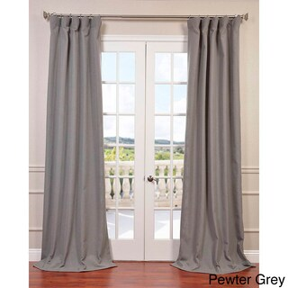 Heavy Faux Linen Curtain Panel (More options available)