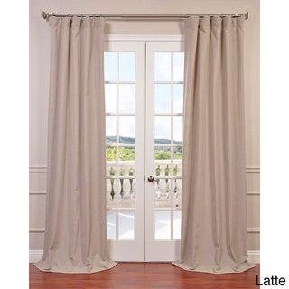 Exclusive Fabrics Heavy Faux Linen Curtain Panel