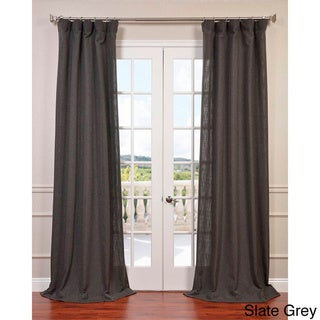 Exclusive Fabrics Heavy Faux Linen Curtain Panel. Grey  Back Tab Curtains   Drapes   Shop The Best Deals For Apr 2017