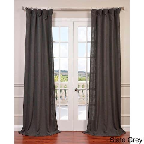 Heavy Faux Linen Single Curtain Panel