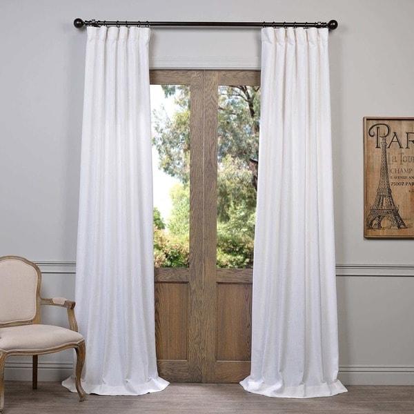 Shop Heavy Faux Linen Single Curtain Panel On Sale
