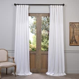 Heavy Faux Linen Curtain Panel Https Ak1 Ostkcdn Com
