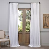 Heavy Faux Linen Curtain Panel