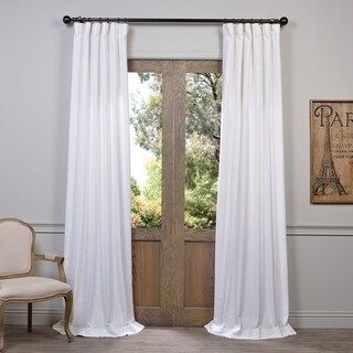 Heavy Faux Linen Curtain Panel (3 options available)