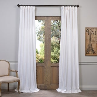 Heavy Faux Linen Single Curtain Panel