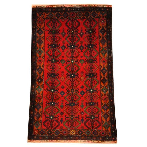 Herat Oriental Semi-antique Afghan Hand-knotted Tribal Balouchi Red/ Gold Wool Rug (2'8 x 4'5)