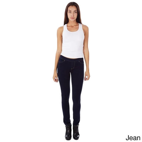 Denim and Colors French Terry Juniors's Skinny Fit Super Stretch and Comfy Pull-on Jeggings