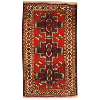 Handmade One-of-a-Kind Balouchi Wool Rug (Afghanistan) - 2'7 x 4'6