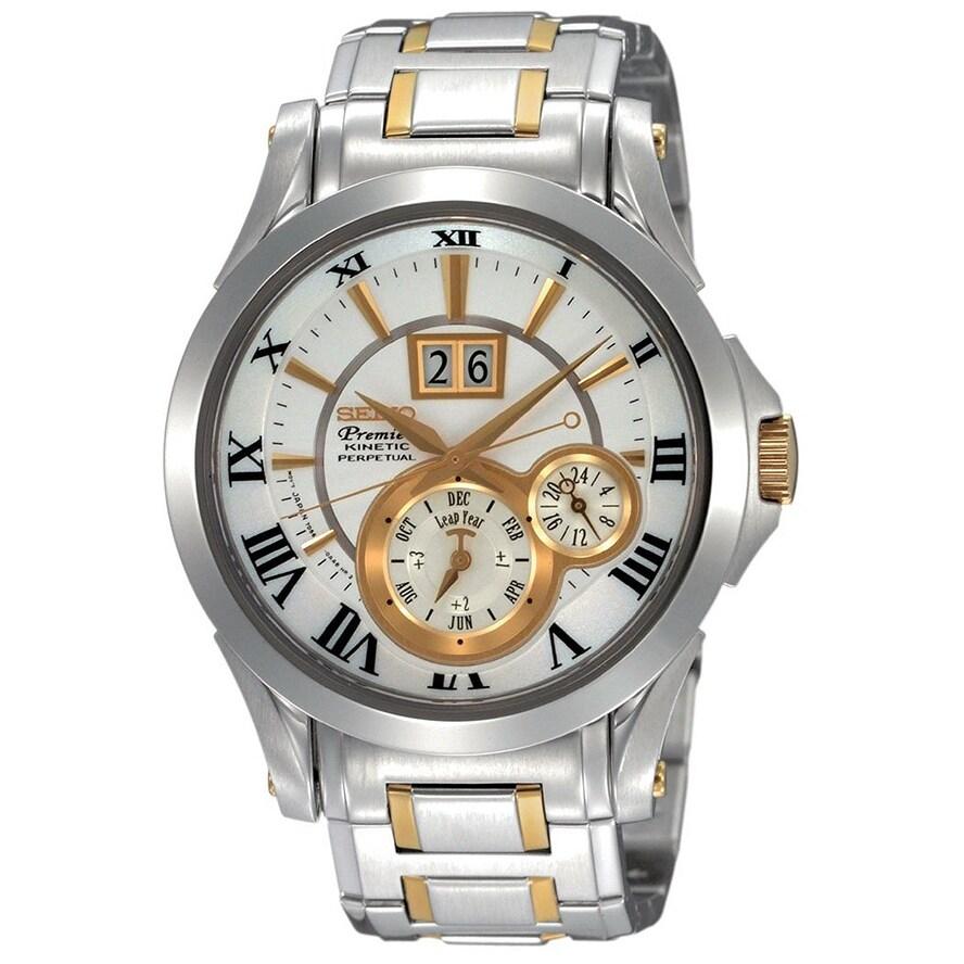 Seiko Men's SNP022P1 Premier Silver Watch (Silver), Size ...