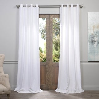Link to Exclusive Fabrics Heavy Faux Linen Grommet Curtain Panel Similar Items in As Is