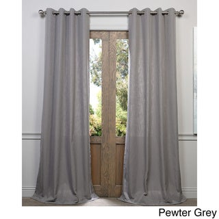Exclusive Fabrics Heavy Faux Linen Grommet Curtain Panel