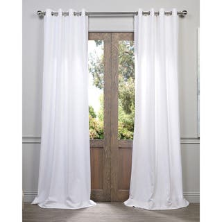 Exclusive Fabrics Heavy Faux Linen Grommet Curtain Panel|https://ak1.ostkcdn.com/images/products/9734167/P16908639.jpg?impolicy=medium