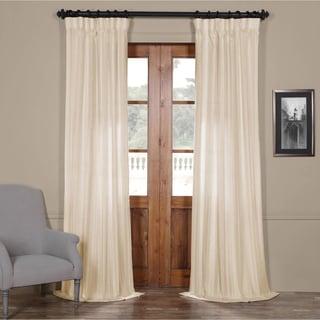 Exclusive Fabrics Cayman Striped Linen Sheer Curtain Panel