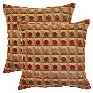 Maze 17-inch Throw Pillows (Set of 2)