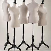 Dress Form on Adjustable Black Stand