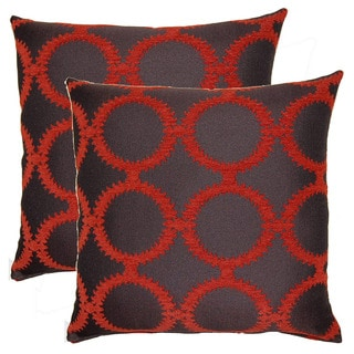 Suzani Rings 19-inch Throw Pillows (Set of 2)