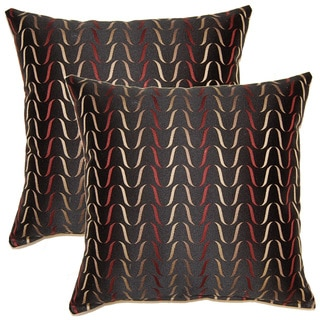 Lash Onyx 17-inch Throw Pillows (Set of 2)