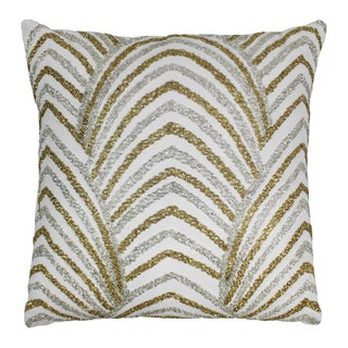 Blazing Needles 20-inch Arching Fans Beaded Throw Pillow