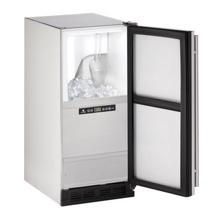 U-Line 1000 Series 1215 - 15 Inch Outdoor Stainless Steel Clear Ice Maker (Without Pump)