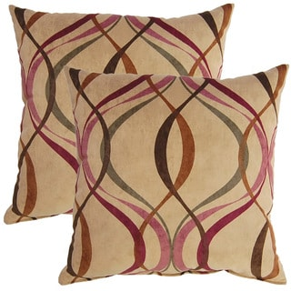 Savi Nutmeg 17-inch Throw Pillows (Set of 2)