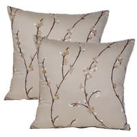 Calico Flax 17-inch Throw Pillows (Set of 2)