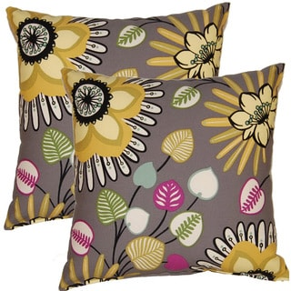 Fiona Graphite 17-inch Throw Pillows (Set of 2)