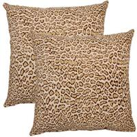 Jungle Cat Winter 17-inch Throw Pillows (Set of 2)