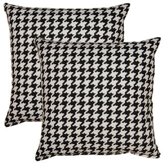 Berne Black White 17-inch Throw Pillows (Set of 2)