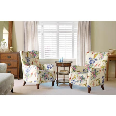 """Paradise Upholstered Arm Chair by Jennifer Taylor Home - 27.5""""LX32""""WX36""""H"""