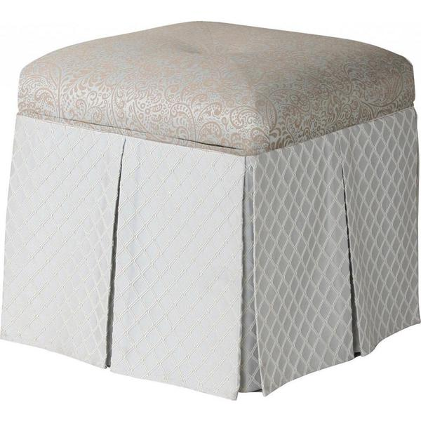 Beau Jennifer Taylor Stacy Square Storage Vanity Stool