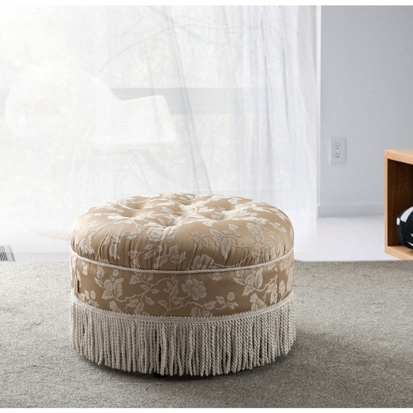gorgeous one slipcovers round pattern ottoman easy make modhomeec slipcover from