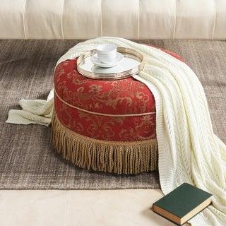 "Jennifer Taylor ""Yolanda"" Tufted Velvet Decorative Round Footstool Ottoman"