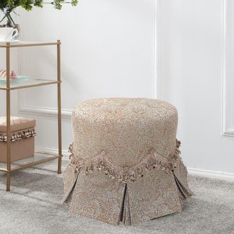 Polly Round Paisley Vanity Stool by Jennifer Taylor Home