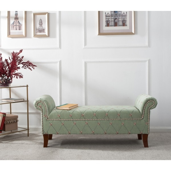 Shop Jennifer Taylor Kathy Roll Arm Entryway Accent Bench