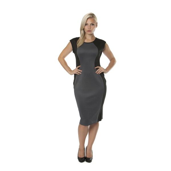 80ea1fc4d3f Shop Stanzino Women s Missy Colorblocked Sleeveless Midi Dress ...