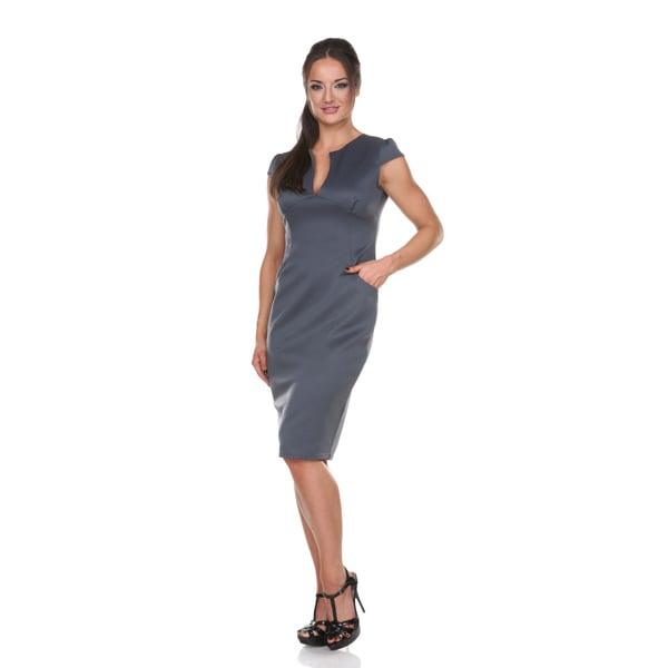 d9f29e9a8eb Shop Stanzino Women s Solid Cap-sleeve Bodycon Midi Dress - Free ...