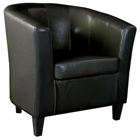 Copper Grove Arisaig Leather Tub Chair