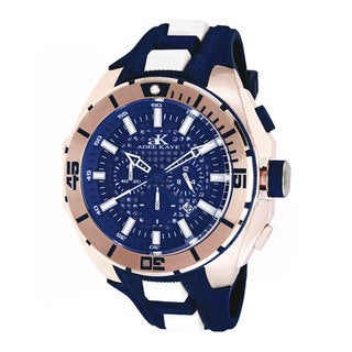 Adee Kaye Men's 'Imposer' Collection Blue Dial Watch