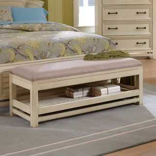 Haven Aged Ivory Bench