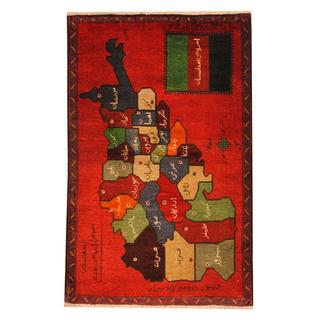 Herat Oriental Semi-antique Afghan Hand-knotted Tribal Balouchi Red/ Green Wool Rug (2'9 x 4'4)