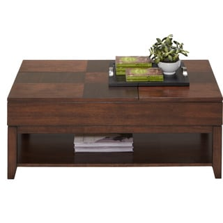 Daytona Regal Walnut Double Lift-top Cocktail Table